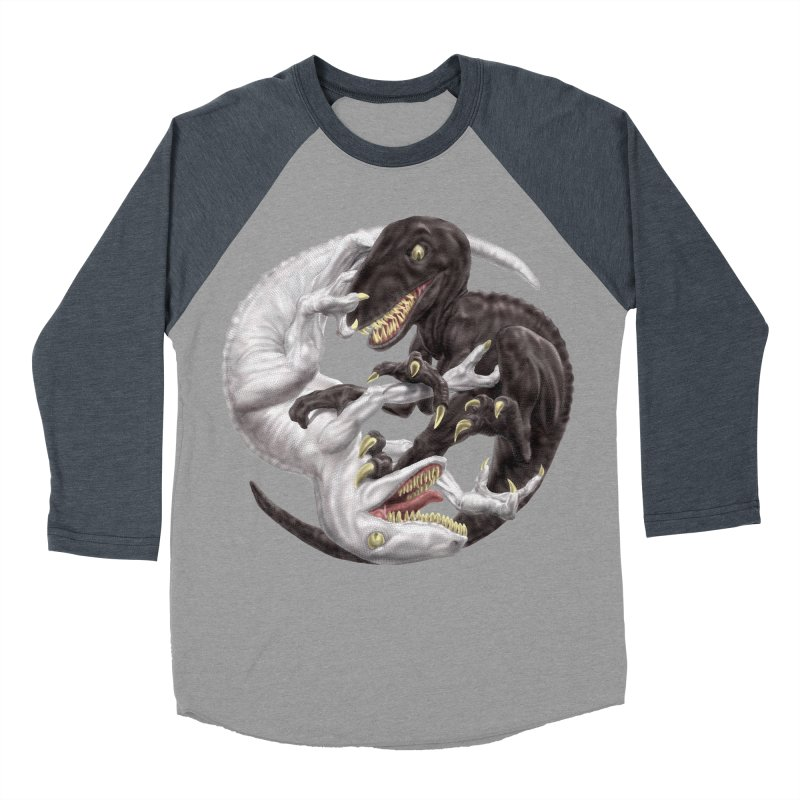 Yin Yang Raptors Women's Baseball Triblend Longsleeve T-Shirt by Ayota Illustration Shop