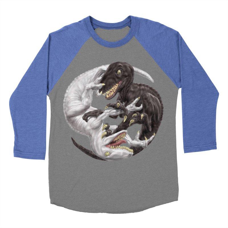 Yin Yang Raptors Men's Baseball Triblend Longsleeve T-Shirt by Ayota Illustration Shop