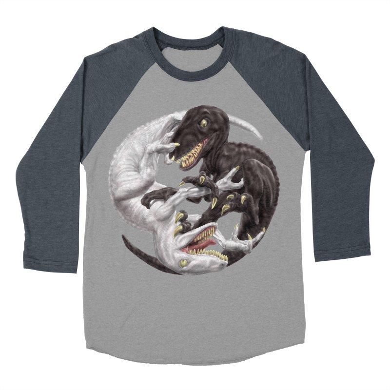 Yin Yang Raptors Men's Baseball Triblend T-Shirt by Ayota Illustration Shop