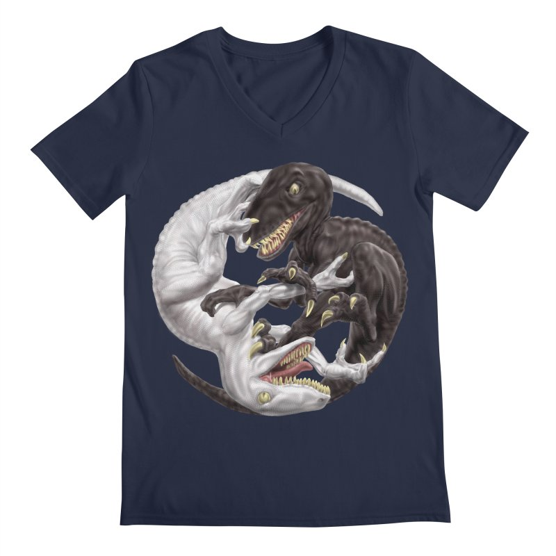Yin Yang Raptors Men's V-Neck by Ayota Illustration Shop