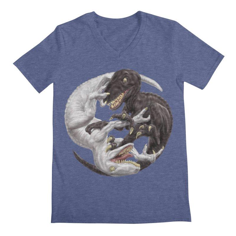 Yin Yang Raptors Men's V-Neck by Ayota Illustration Shop