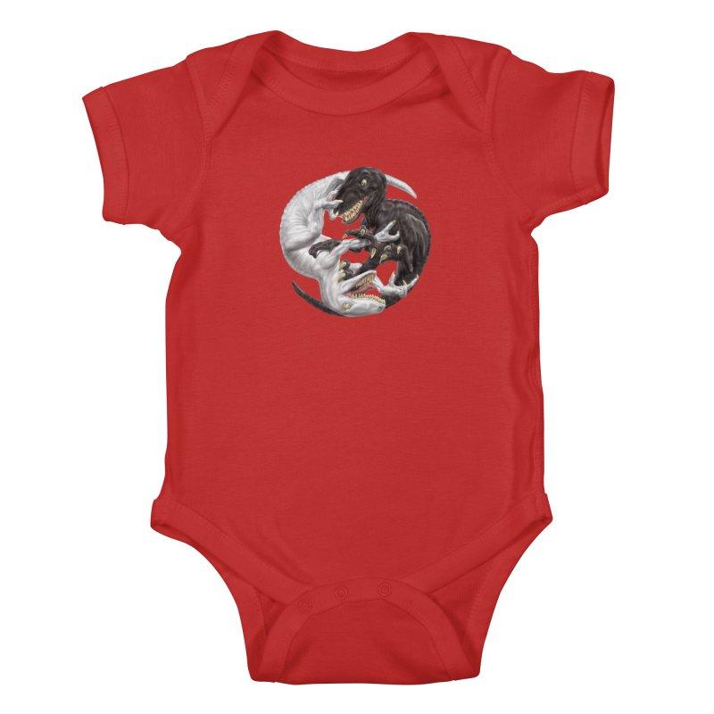 Yin Yang Raptors Kids Baby Bodysuit by Ayota Illustration Shop