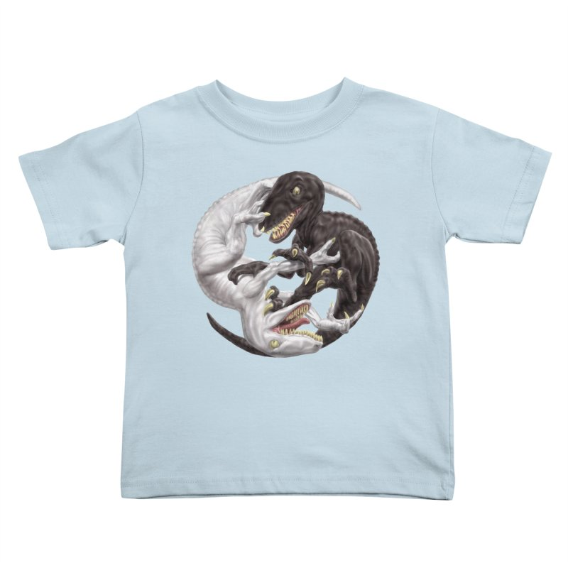 Yin Yang Raptors Kids Toddler T-Shirt by Ayota Illustration Shop