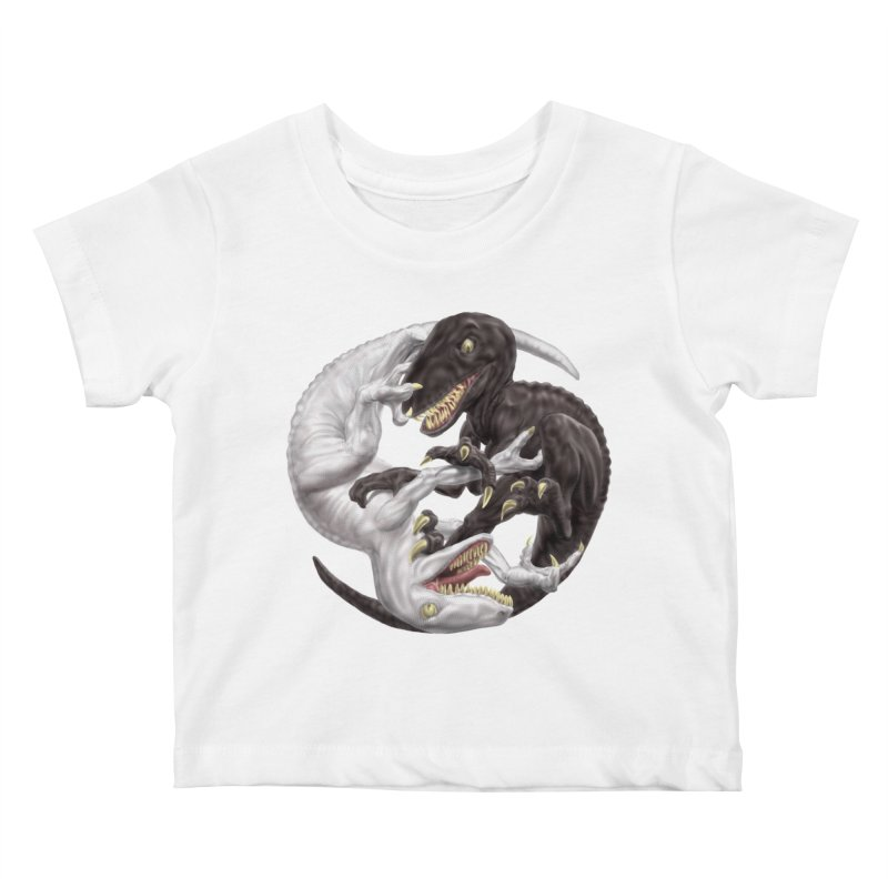 Yin Yang Raptors Kids Baby T-Shirt by Ayota Illustration Shop