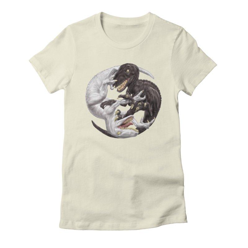 Yin Yang Raptors Women's T-Shirt by Ayota Illustration Shop