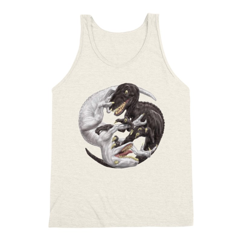 Yin Yang Raptors Men's Triblend Tank by Ayota Illustration Shop