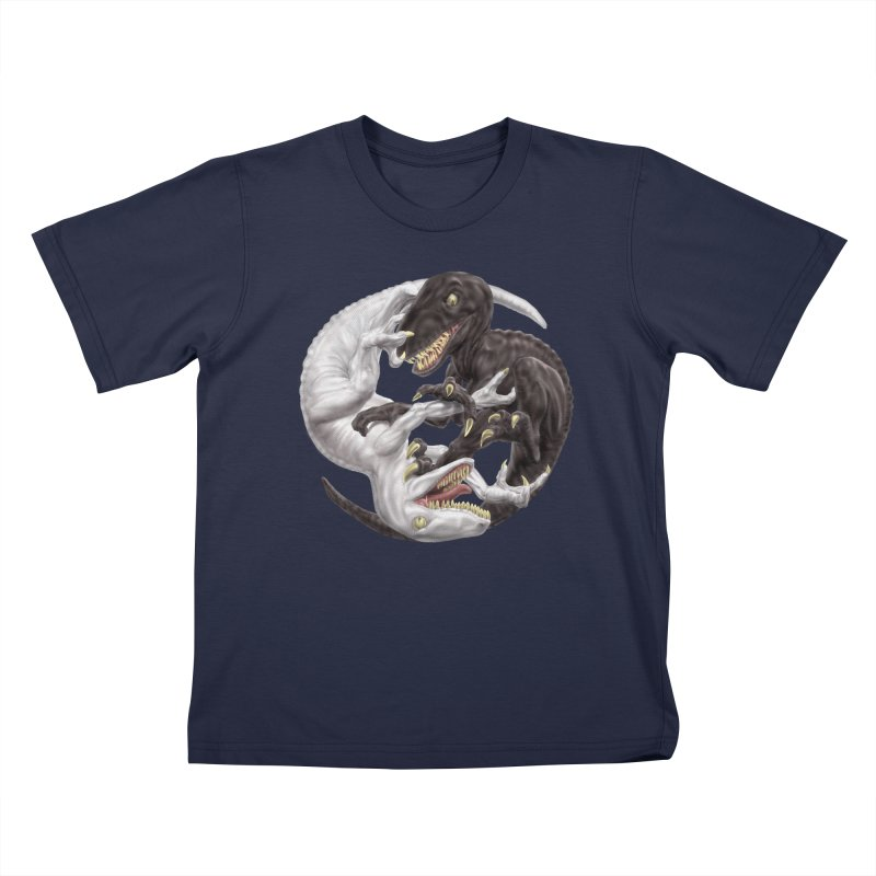 Yin Yang Raptors Kids T-Shirt by Ayota Illustration Shop