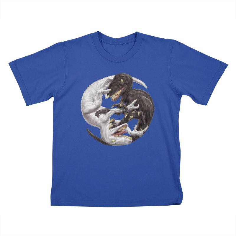 Yin Yang Raptors Kids T-Shirt by Ayota Illustration Shop