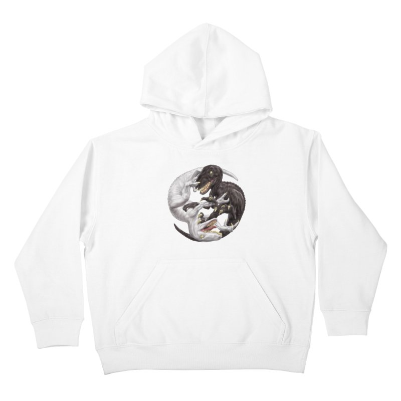Yin Yang Raptors Kids Pullover Hoody by Ayota Illustration Shop