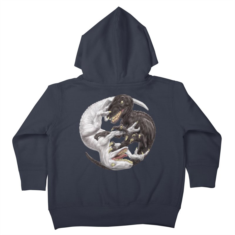 Yin Yang Raptors Kids Toddler Zip-Up Hoody by Ayota Illustration Shop