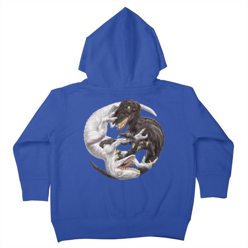 Yin Yang Raptors Kids Toddler Zip-Up Hoody by Ayota Illustration Shop