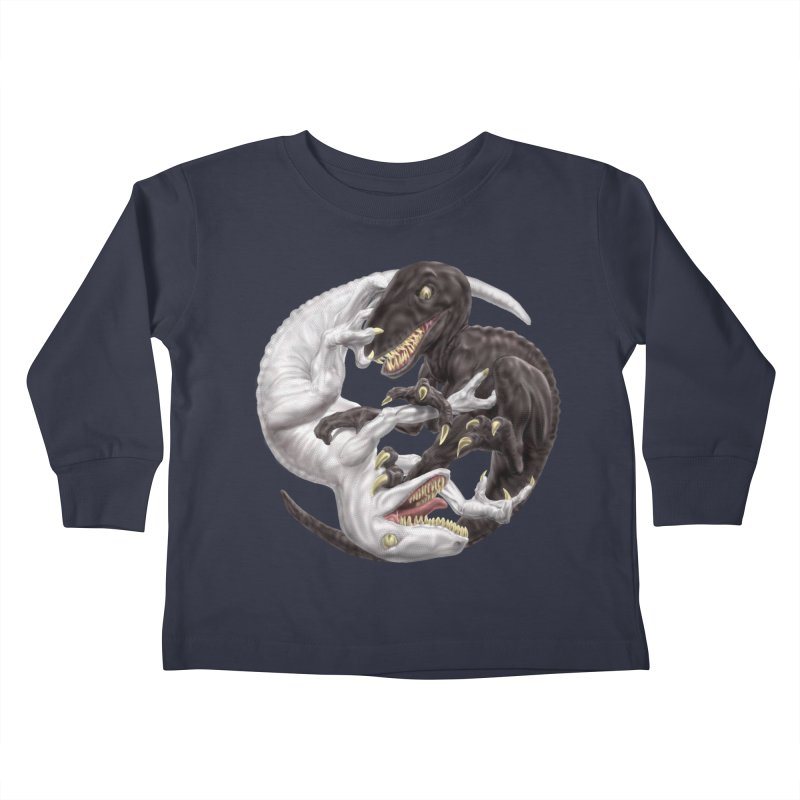 Yin Yang Raptors Kids Toddler Longsleeve T-Shirt by Ayota Illustration Shop