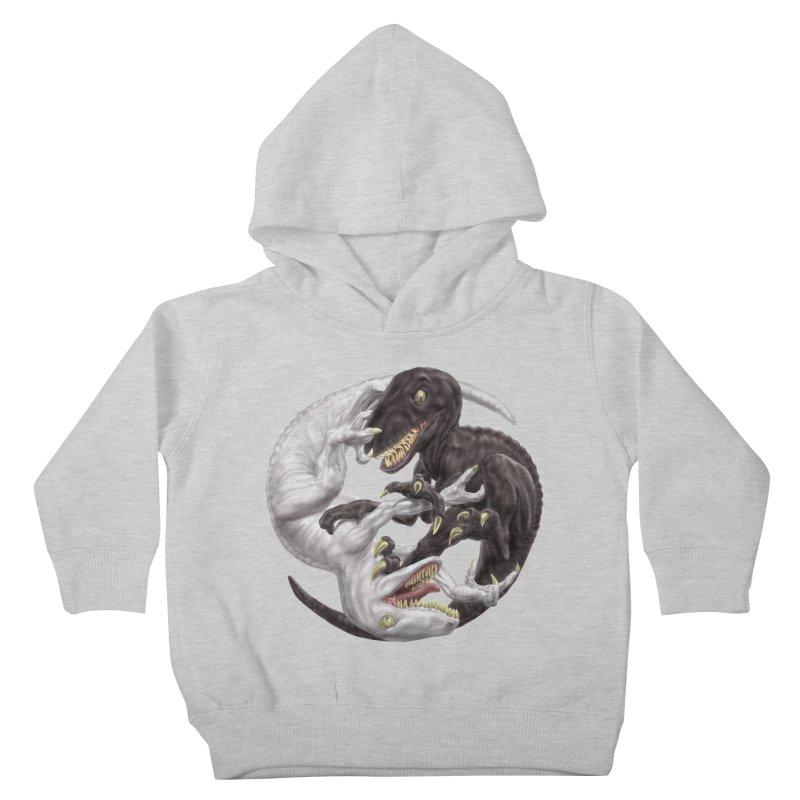 Yin Yang Raptors Kids Toddler Pullover Hoody by Ayota Illustration Shop