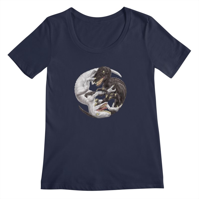 Yin Yang Raptors Women's Regular Scoop Neck by Ayota Illustration Shop