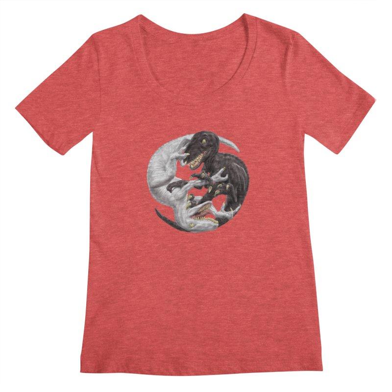 Yin Yang Raptors Women's Scoopneck by Ayota Illustration Shop