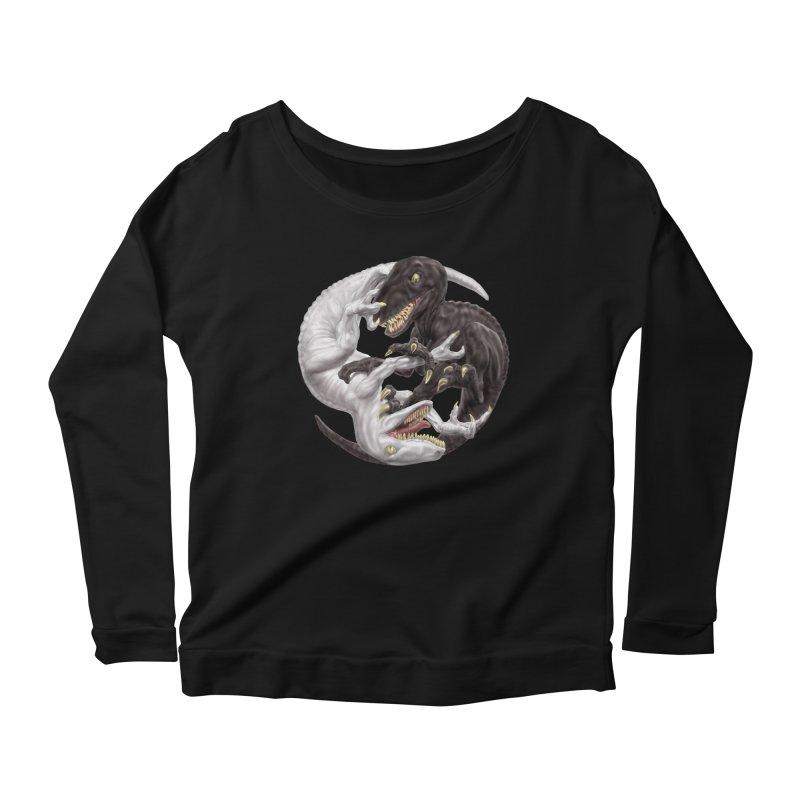 Yin Yang Raptors Women's Scoop Neck Longsleeve T-Shirt by Ayota Illustration Shop