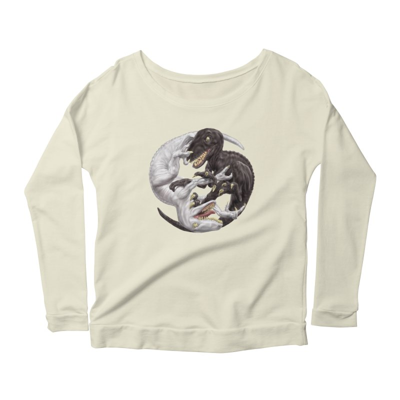 Yin Yang Raptors Women's Longsleeve Scoopneck  by Ayota Illustration Shop