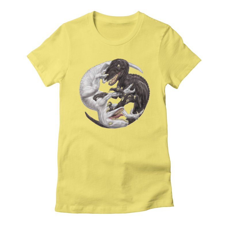 Yin Yang Raptors Women's T-Shirt by Ayota Illustration Shop