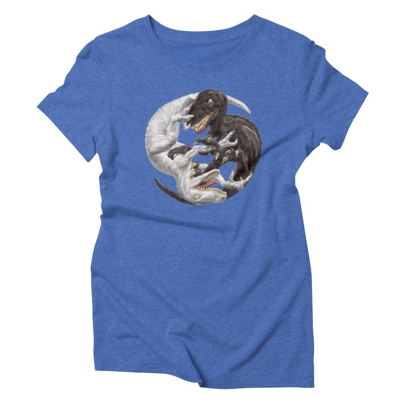 Yin Yang Raptors Women's Triblend T-Shirt by Ayota Illustration Shop