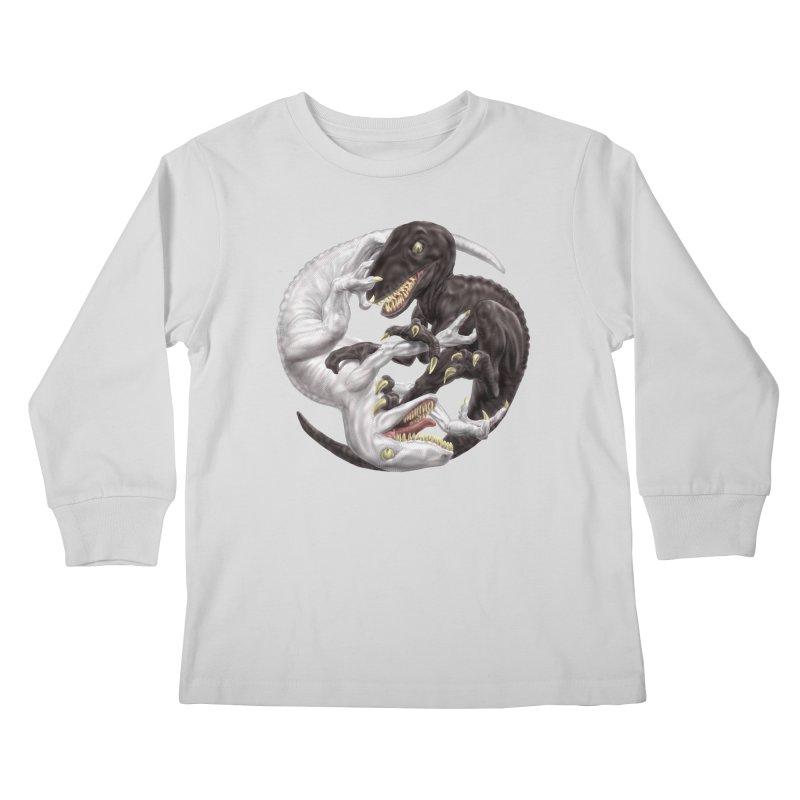 Yin Yang Raptors Kids Longsleeve T-Shirt by Ayota Illustration Shop