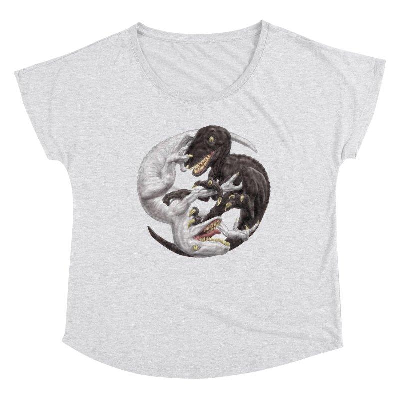 Yin Yang Raptors Women's Scoop Neck by Ayota Illustration Shop
