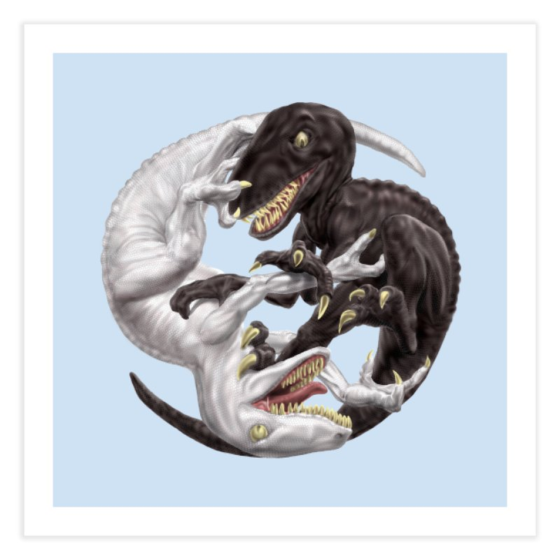 Yin Yang Raptors Home Fine Art Print by Ayota Illustration Shop