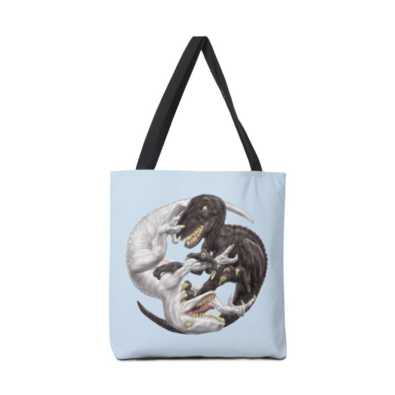 Yin Yang Raptors Accessories Tote Bag Bag by Ayota Illustration Shop