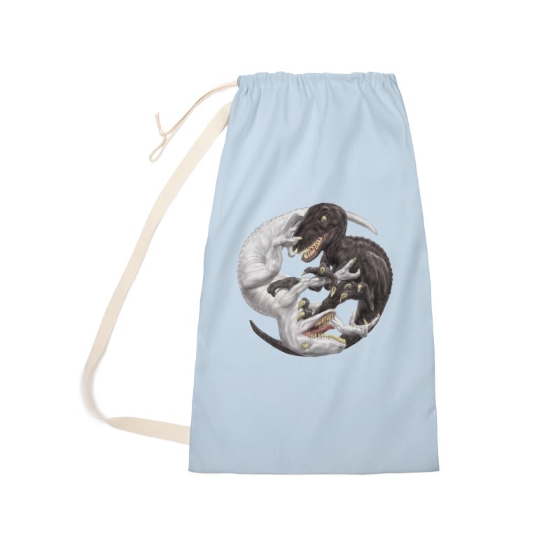 Yin Yang Raptors Accessories Laundry Bag Bag by Ayota Illustration Shop