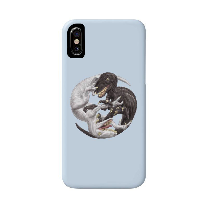 Yin Yang Raptors Accessories Phone Case by Ayota Illustration Shop