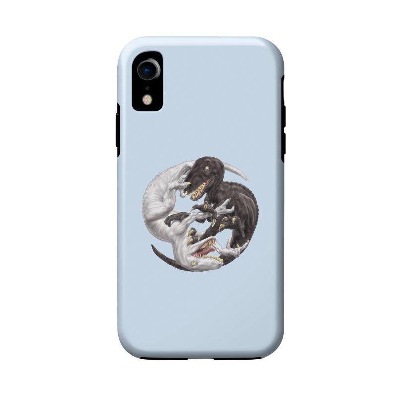 Yin Yang Raptors Accessories Phone Case by Ayota Illustration Shop