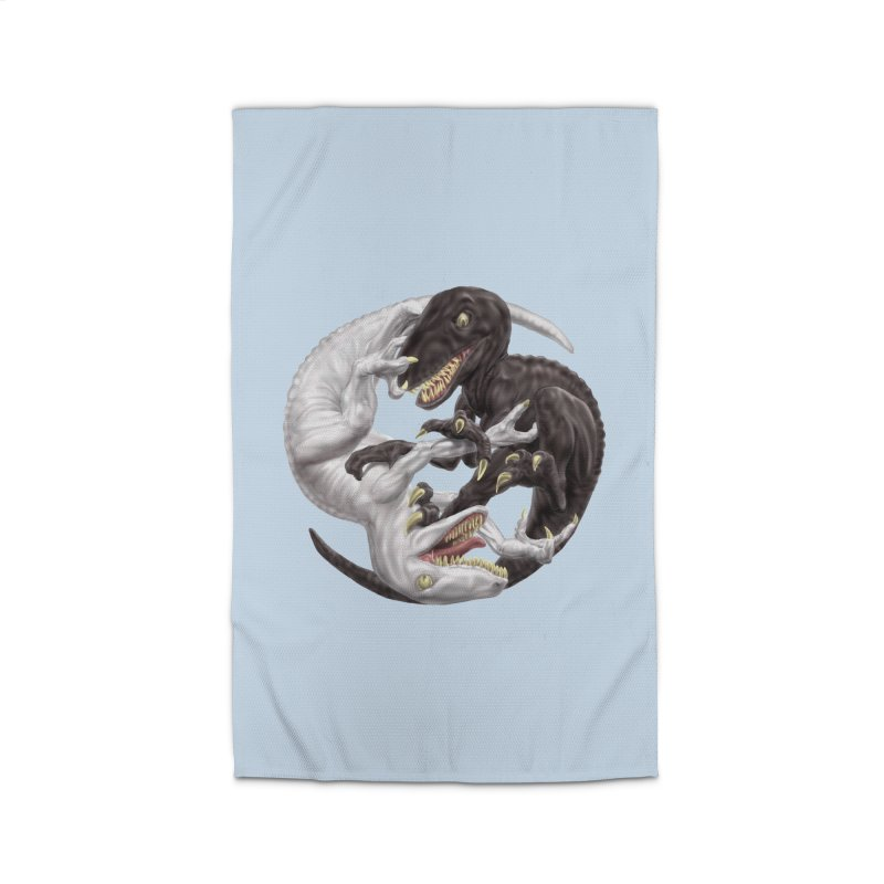 Yin Yang Raptors Home Rug by Ayota Illustration Shop