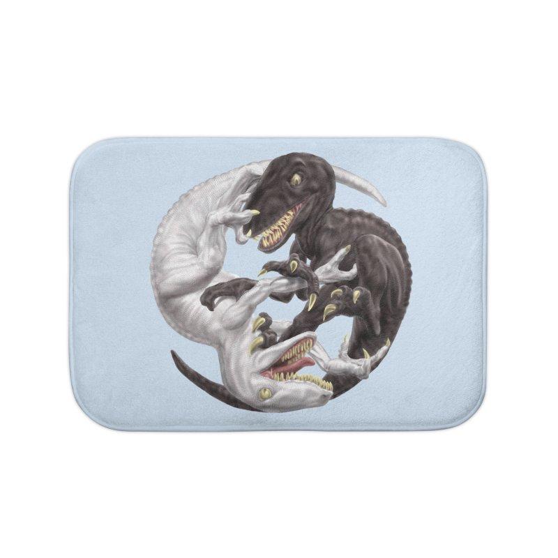 Yin Yang Raptors Home Bath Mat by Ayota Illustration Shop