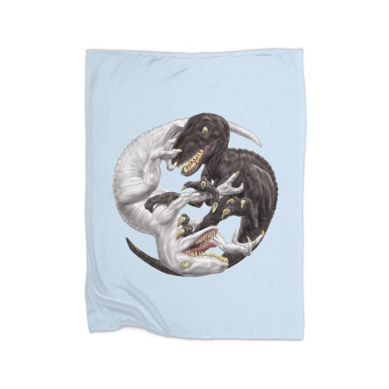 Yin Yang Raptors Home Blanket by Ayota Illustration Shop