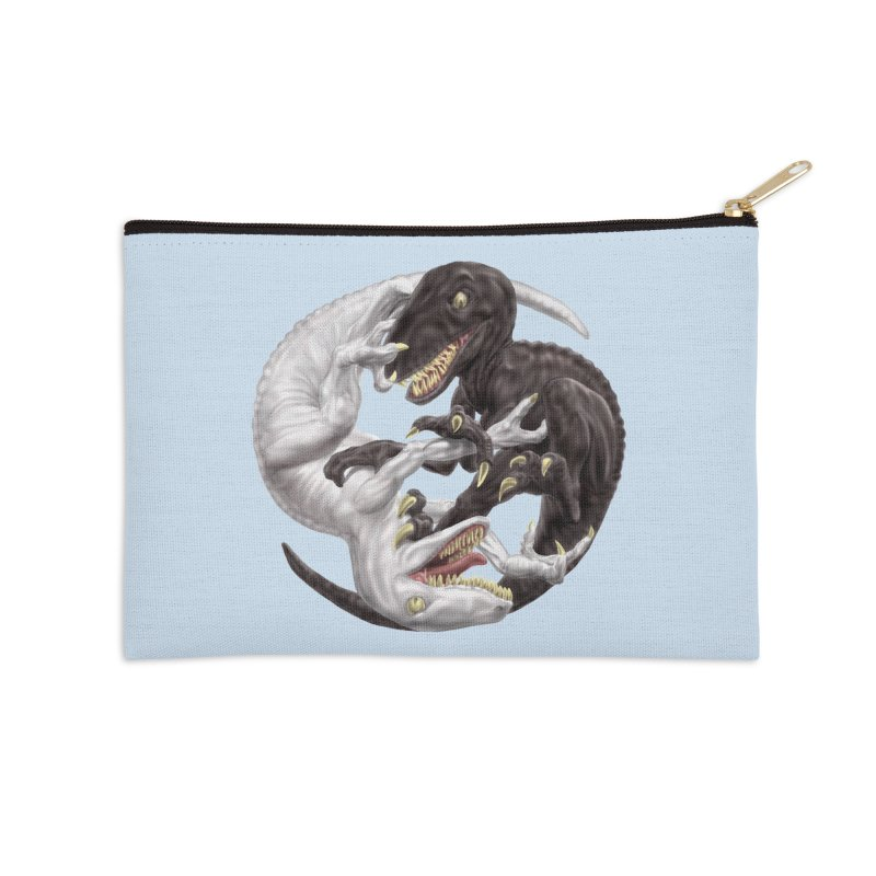 Yin Yang Raptors Accessories Zip Pouch by Ayota Illustration Shop