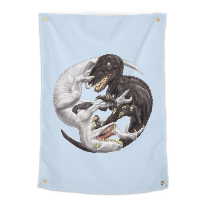 Yin Yang Raptors Home Tapestry by Ayota Illustration Shop