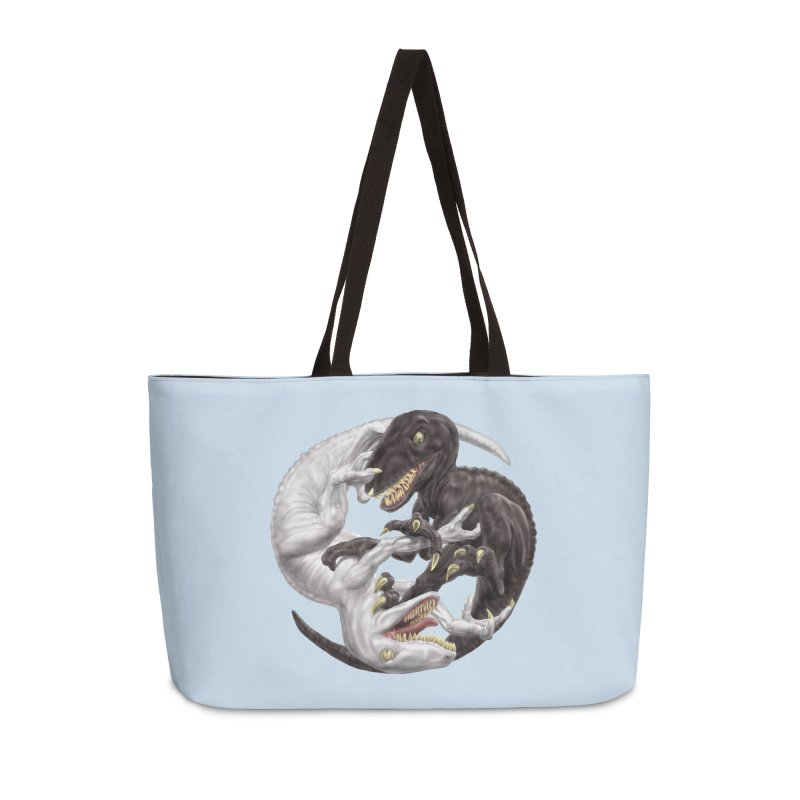 Yin Yang Raptors Accessories Weekender Bag Bag by Ayota Illustration Shop