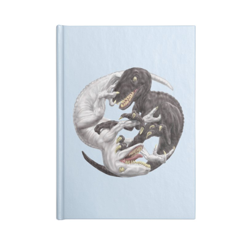 Yin Yang Raptors Accessories Lined Journal Notebook by Ayota Illustration Shop