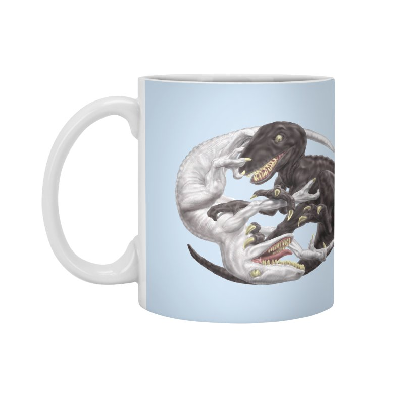Yin Yang Raptors Accessories Mug by Ayota Illustration Shop