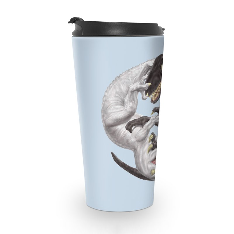Yin Yang Raptors Accessories Travel Mug by Ayota Illustration Shop