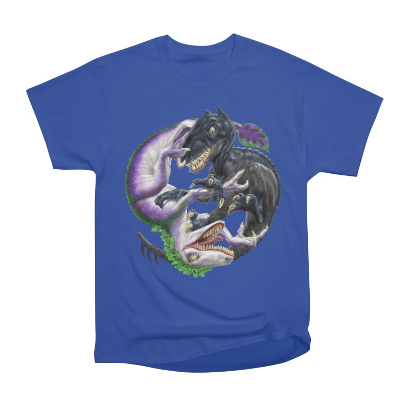 Darklaw vs the Laughing Lizard Women's Heavyweight Unisex T-Shirt by Ayota Illustration Shop