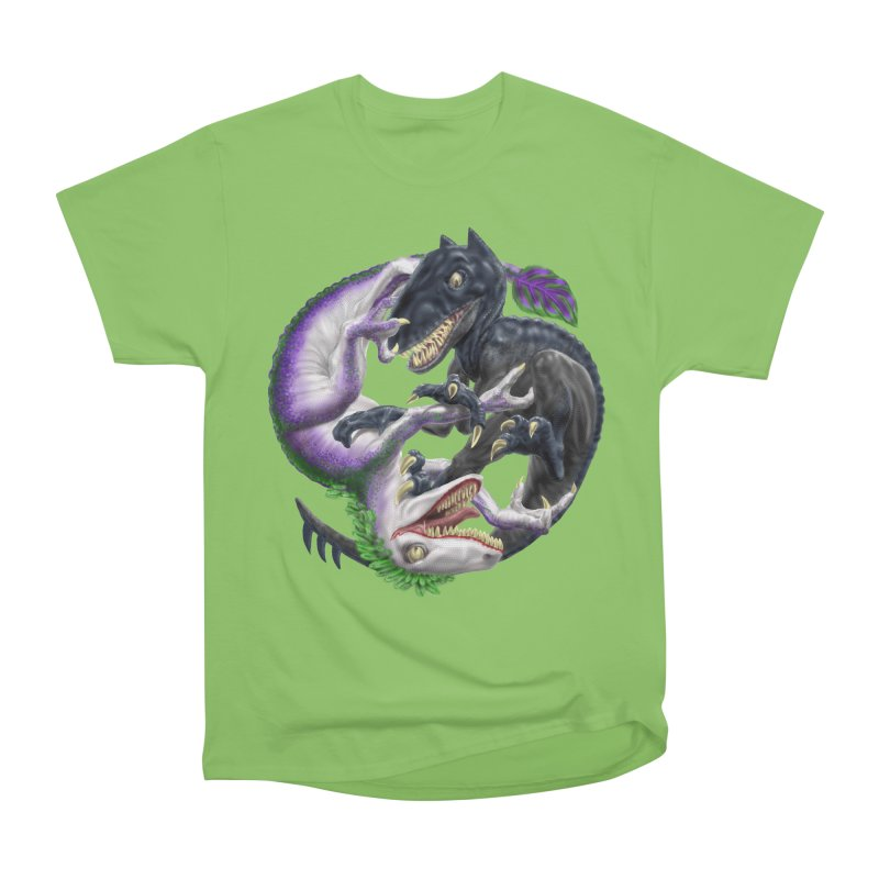 Darklaw vs the Laughing Lizard Women's Heavyweight Unisex T-Shirt by Ayota Illustration Shop