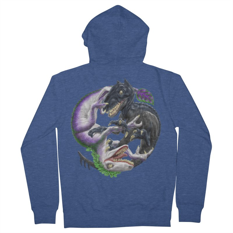 Darklaw vs the Laughing Lizard Women's Zip-Up Hoody by Ayota Illustration Shop
