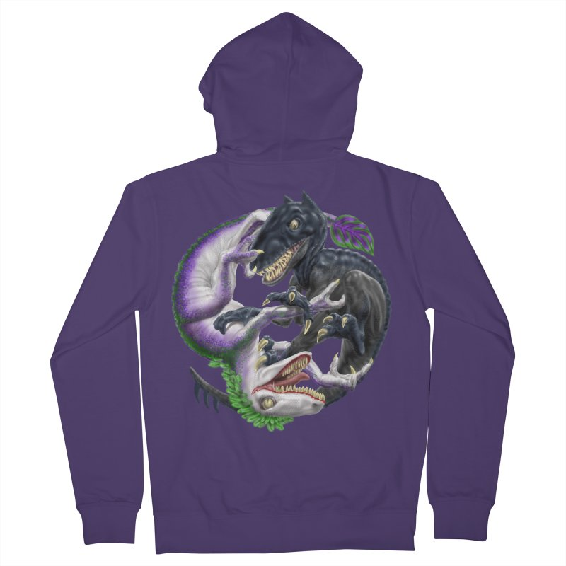 Darklaw vs the Laughing Lizard Women's French Terry Zip-Up Hoody by Ayota Illustration Shop