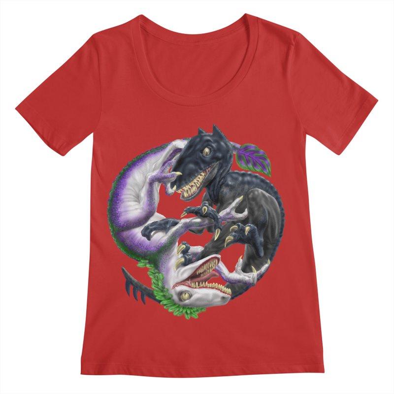 Darklaw vs the Laughing Lizard Women's Regular Scoop Neck by Ayota Illustration Shop