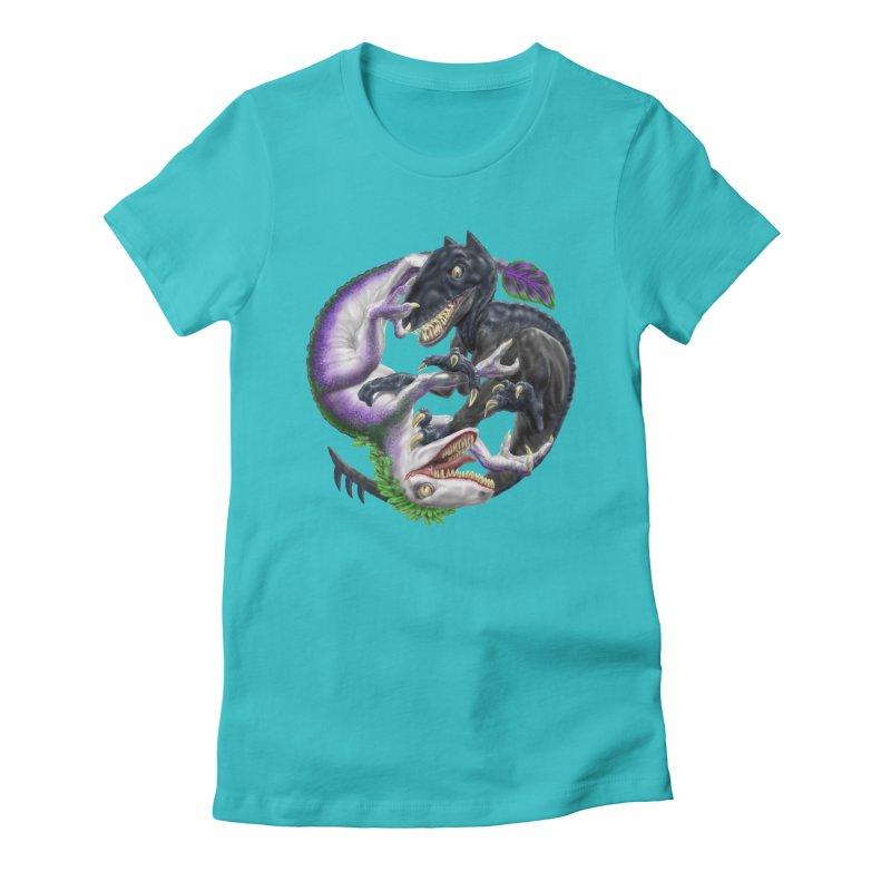 Darklaw vs the Laughing Lizard Women's T-Shirt by Ayota Illustration Shop