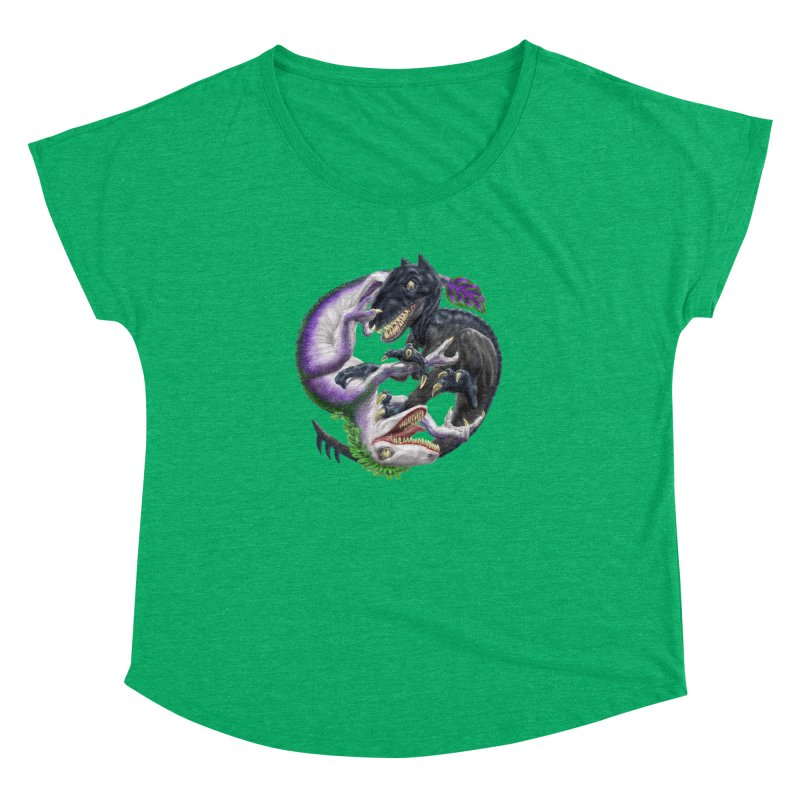 Darklaw vs the Laughing Lizard Women's Dolman Scoop Neck by Ayota Illustration Shop