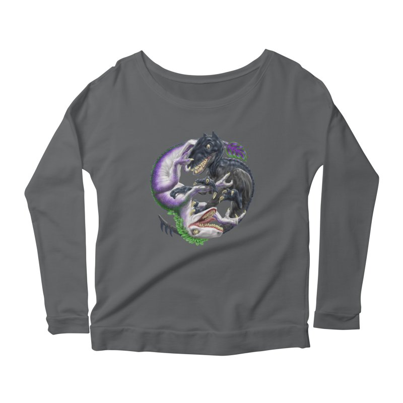 Darklaw vs the Laughing Lizard Women's Longsleeve Scoopneck  by Ayota Illustration Shop