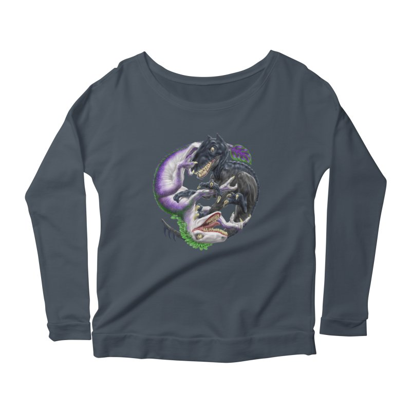 Darklaw vs the Laughing Lizard Women's Scoop Neck Longsleeve T-Shirt by Ayota Illustration Shop