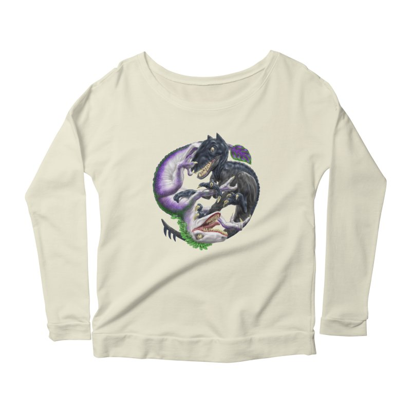 Darklaw vs the Laughing Lizard Women's Scoop Neck Longsleeve T-Shirt by Ayota Illustration Shop
