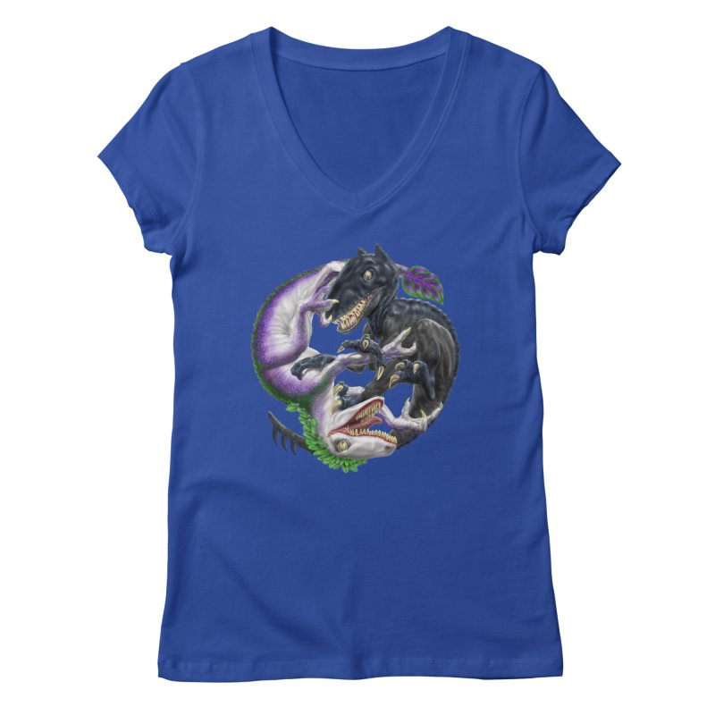 Darklaw vs the Laughing Lizard Women's Regular V-Neck by Ayota Illustration Shop